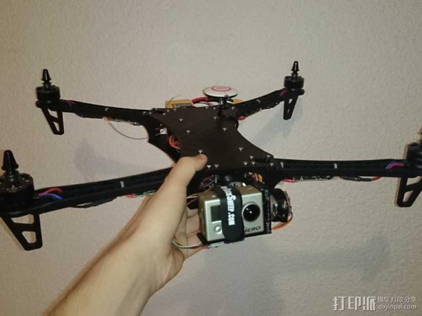 四轴飞行器常平架 3D打印模型渲染图
