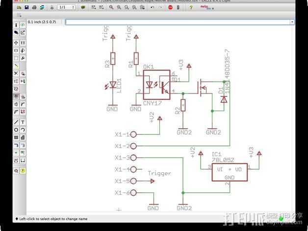 电路板 3D打印模型渲染图