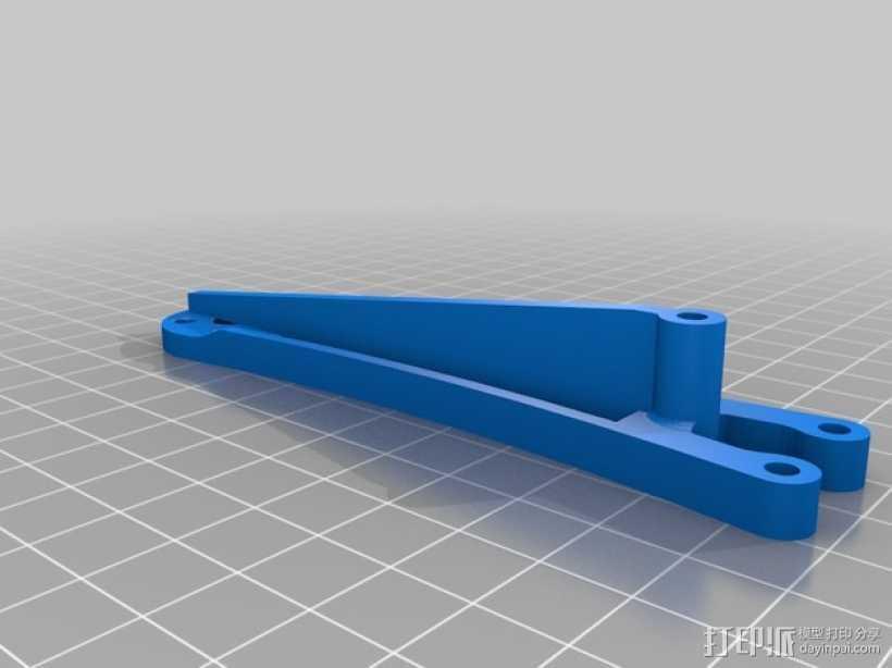 迷你四轴飞行器支臂 3D打印模型渲染图