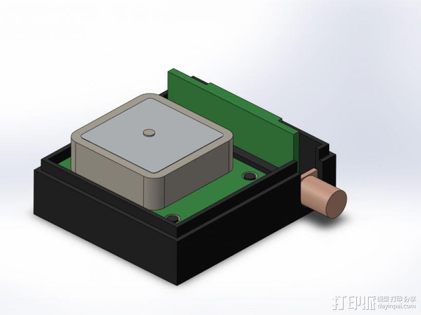 3DR/RCT Radio + CRIUS GPS保护外盒 3D打印模型渲染图