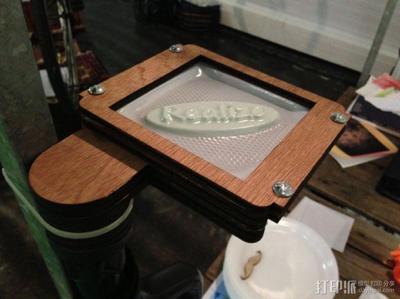 简易真空成型机 3D打印模型渲染图