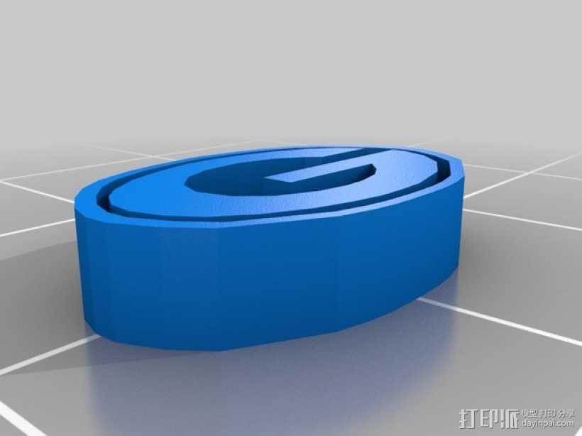 Green Bay绿湾包装工队 标志 3D打印模型渲染图