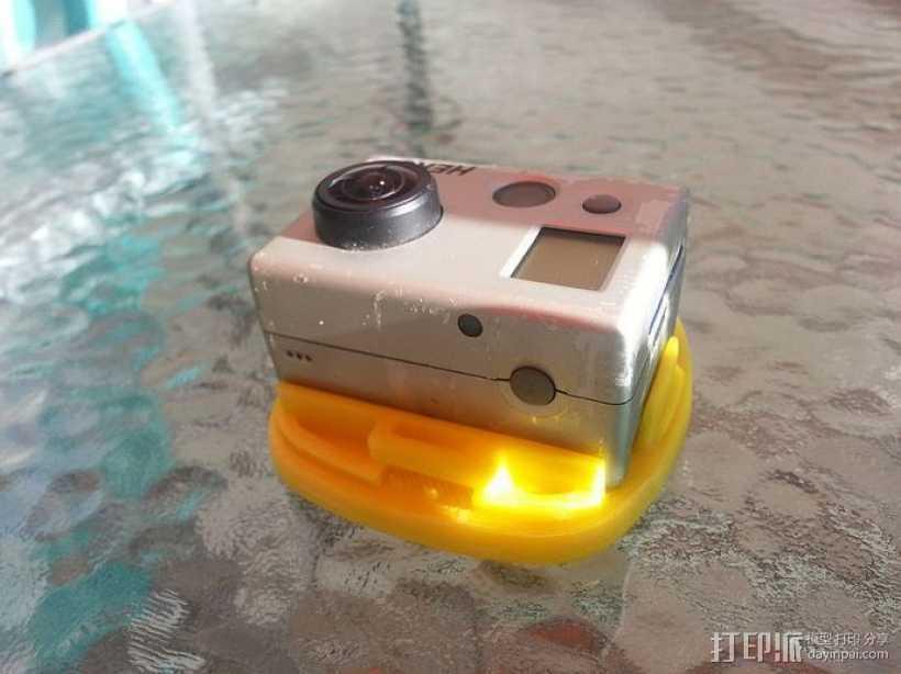 GoPro Hero 2相机固定器 3D打印模型渲染图