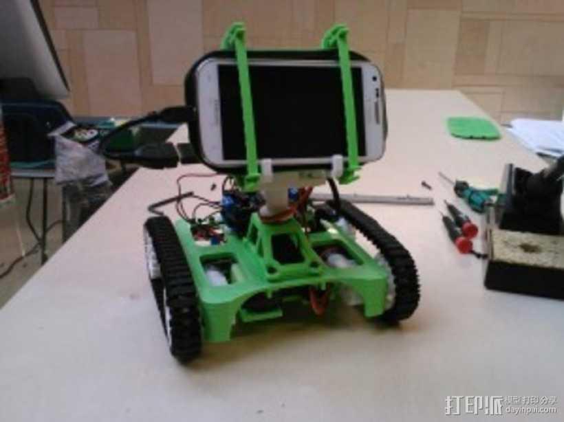 坦克车手机架  3D打印模型渲染图