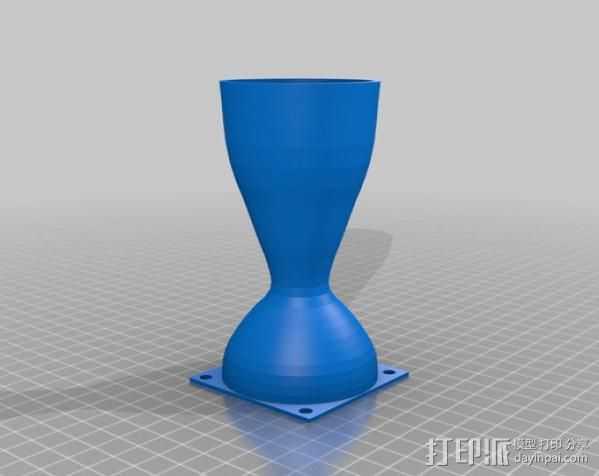 拉法尔喷嘴风扇座 3D打印模型渲染图