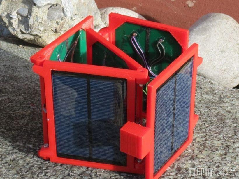 便携式太阳能电池板 3D打印模型渲染图