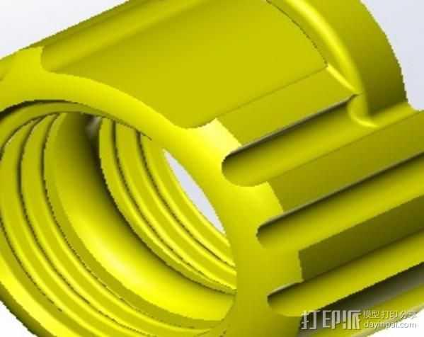 液力耦合器 3D打印模型渲染图