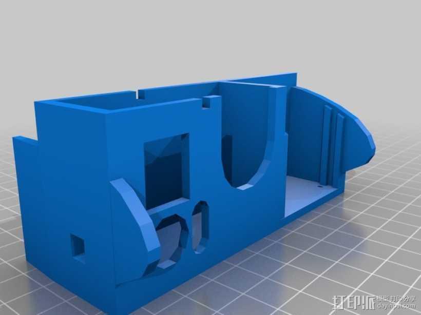 Gopro Hero 3相机保护外罩 3D打印模型渲染图
