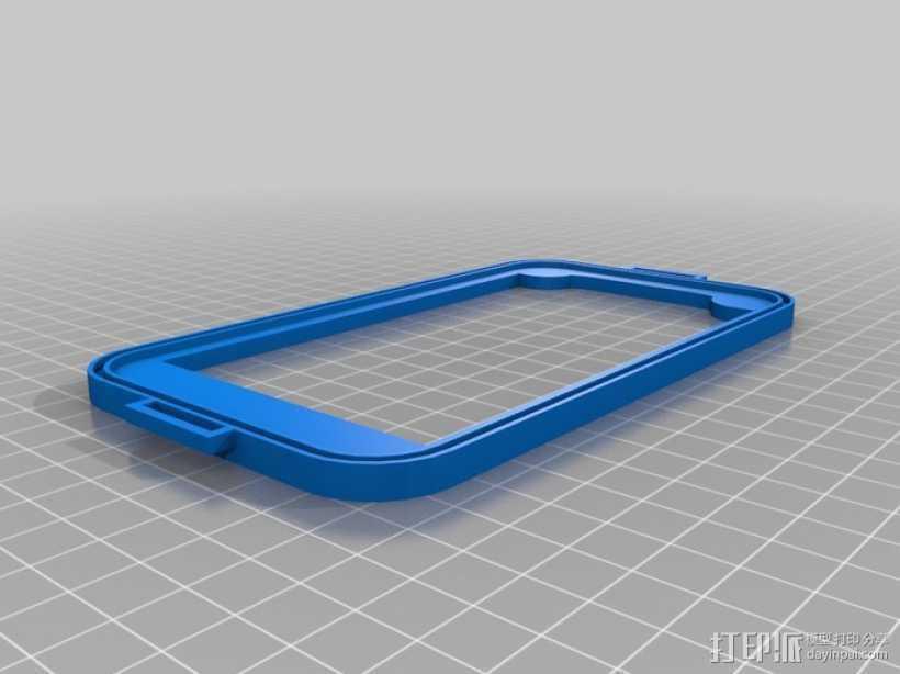三星Galaxy Note 2手机套 3D打印模型渲染图