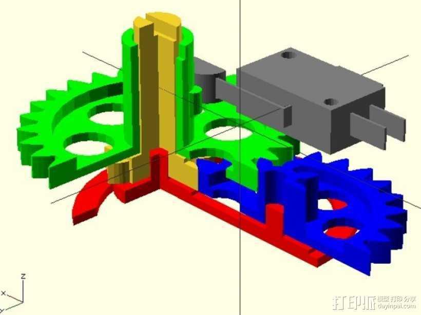 飞行模拟器的高度测量仪 3D打印模型渲染图