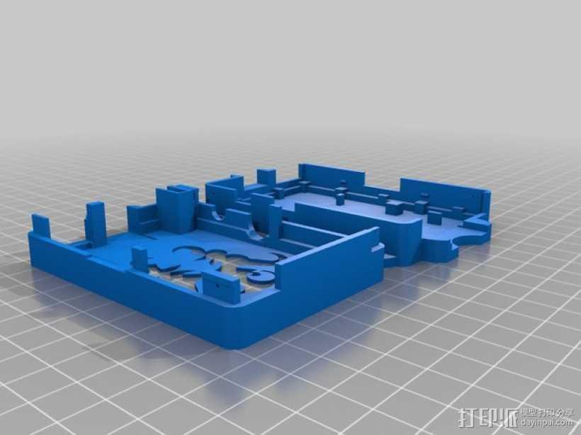 OctoPrint Raspberry Pi 壳子 3D打印模型渲染图