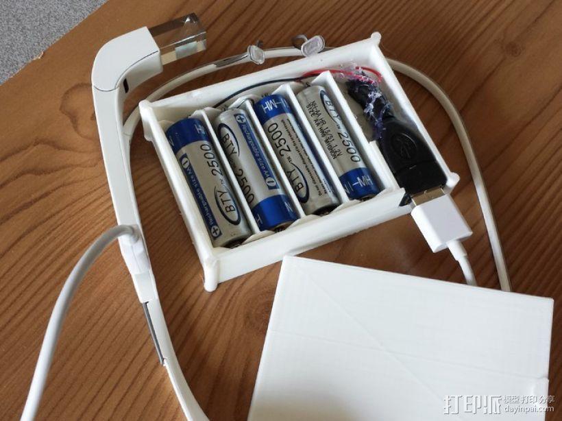 用两节AA电池做出你自己的1A+5V USB充电器 3D打印模型渲染图