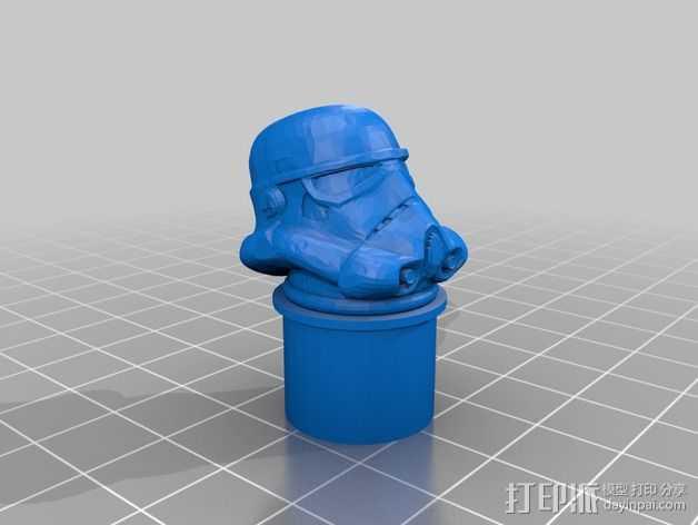 车把塞端 3D打印模型渲染图