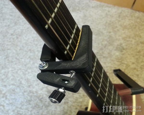 无弹性的吉他品柱 3D打印模型渲染图