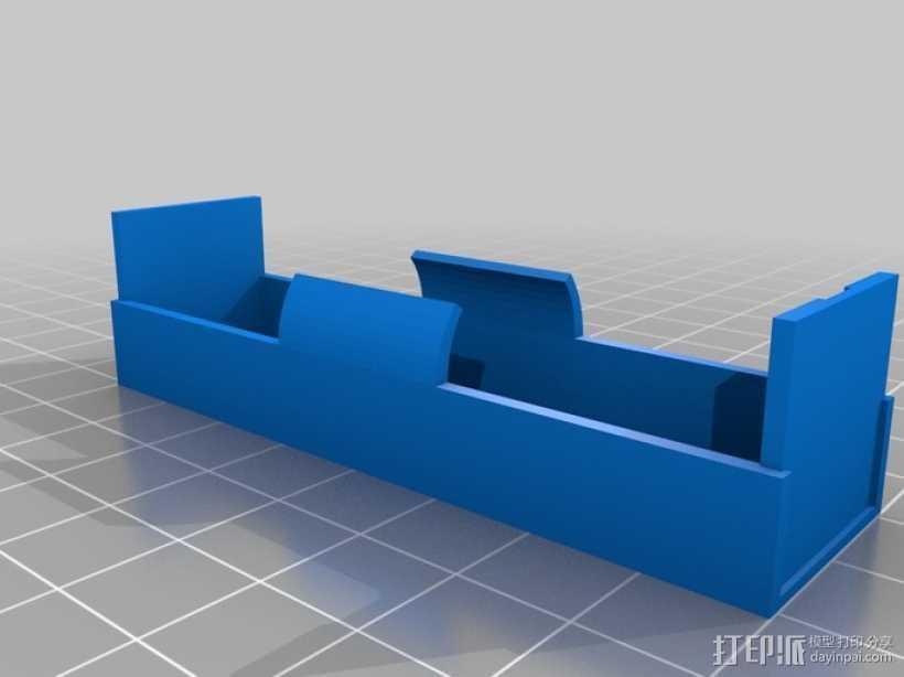 18650电池座 3D打印模型渲染图