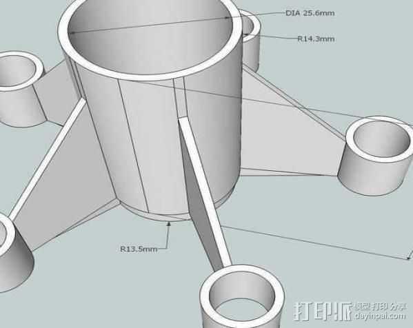 BT50火箭组装 3D打印模型渲染图