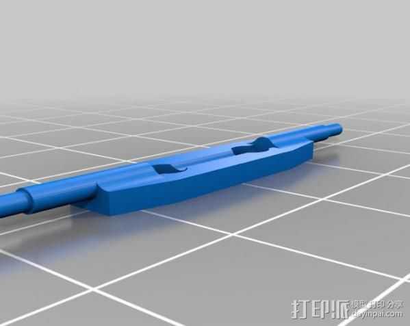 叶片状替换器 3D打印模型渲染图