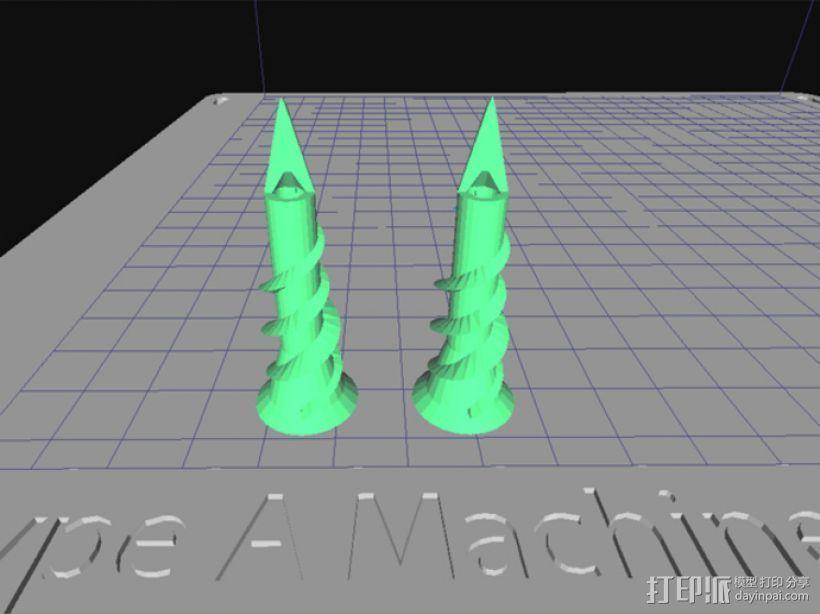 墙角钉 3D打印模型渲染图