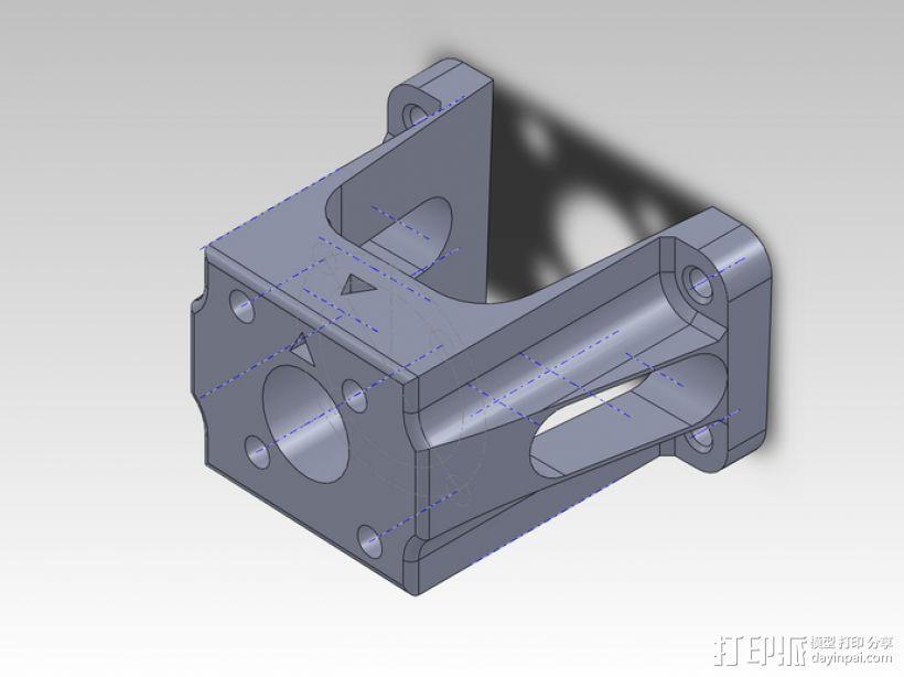力学 1400mm T-28 发动马达 3D打印模型渲染图