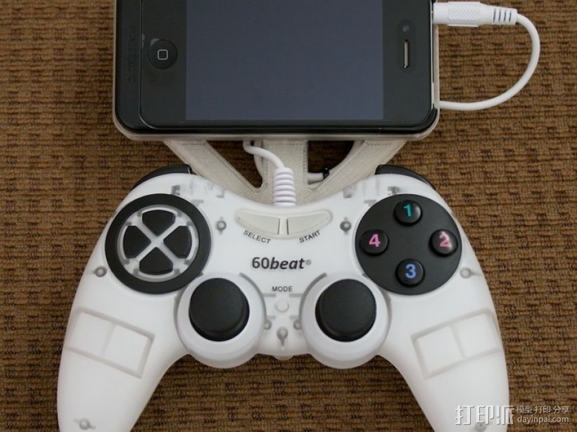 60beat iPhone安装控制器 3D打印模型渲染图