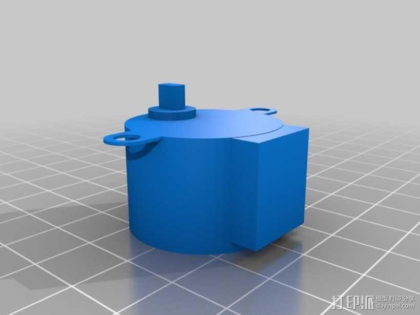步进电机组件 NO:28BYJ-48 3D打印模型渲染图