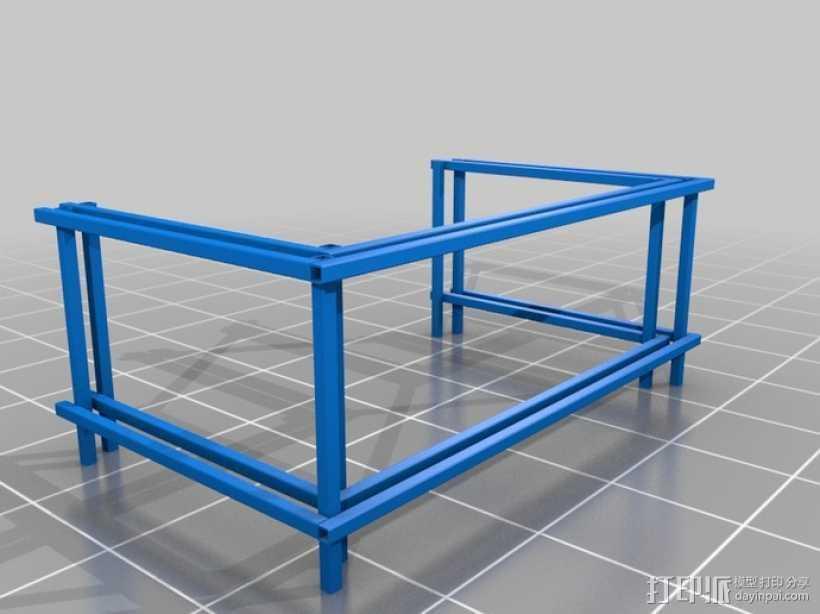 嵌套管表 3D打印模型渲染图