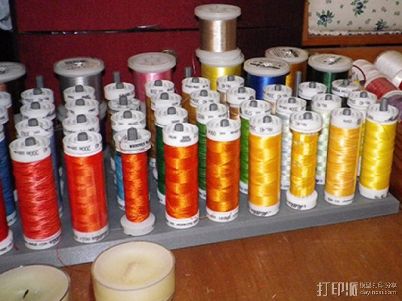缝纫机线存储器 3D打印模型渲染图