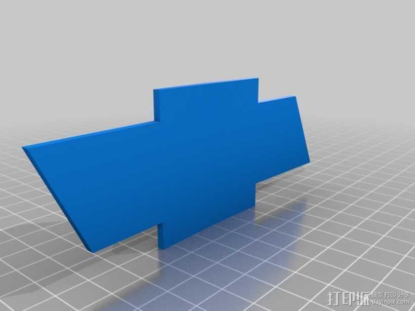 雪佛兰领结 3D打印模型渲染图