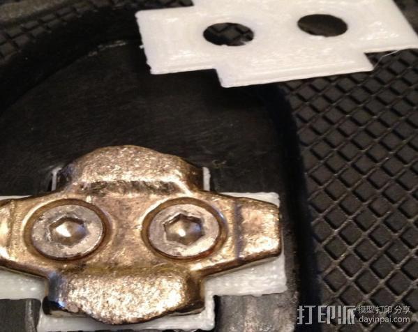 踏板夹板垫片 3D打印模型渲染图