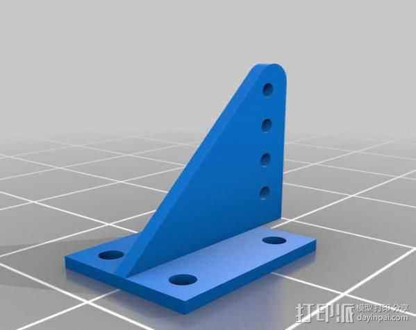 控制短杆 3D打印模型渲染图