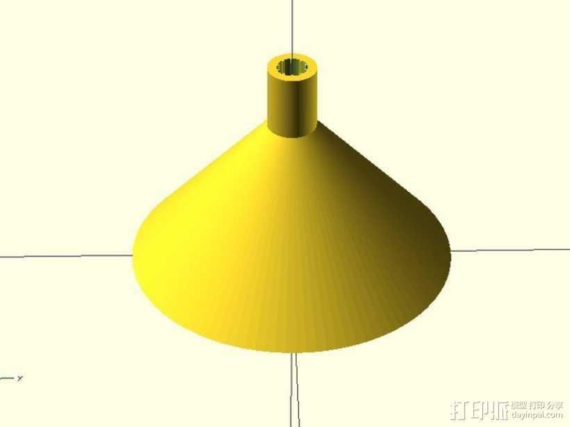 飞镖锥的吹箭筒 3D打印模型渲染图