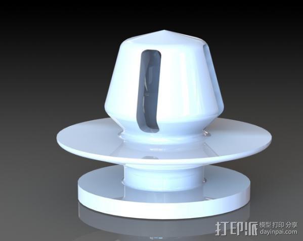 汽车塑料固件 3D打印模型渲染图