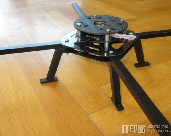 起落滑橇 3D打印模型渲染图