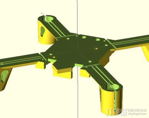 Hubsan x4框架 3D打印模型渲染图