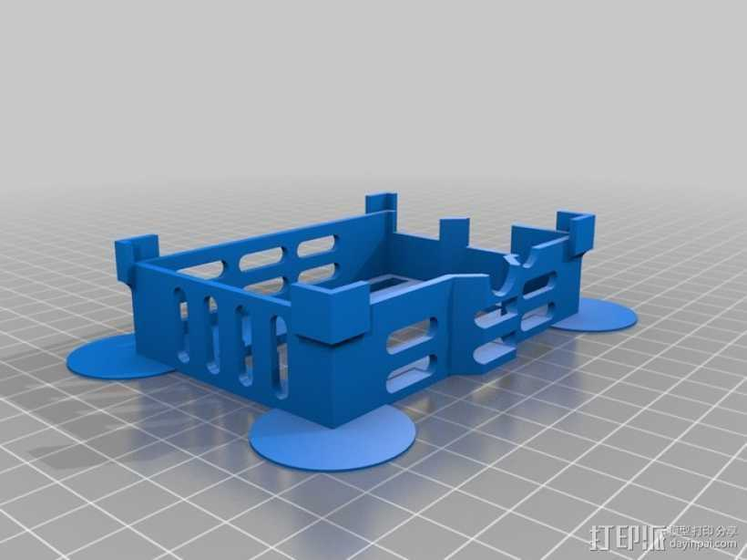 液晶板挡盖 3D打印模型渲染图