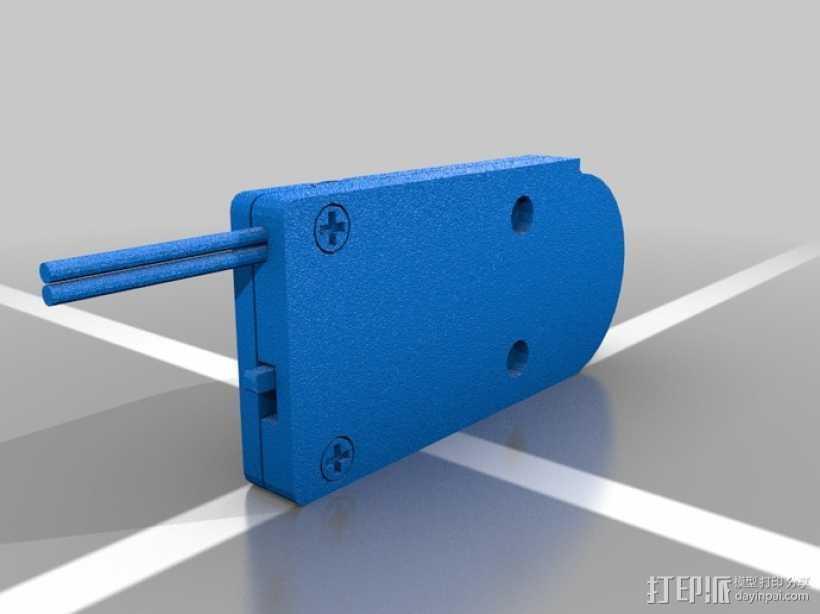 硬币电池夹 3D打印模型渲染图