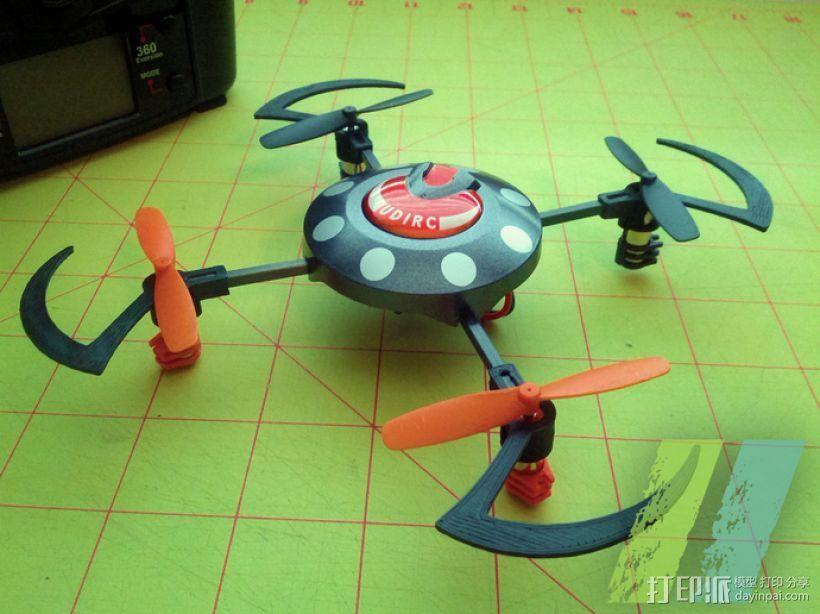 UDI U816四轴飞行器 3D打印模型渲染图
