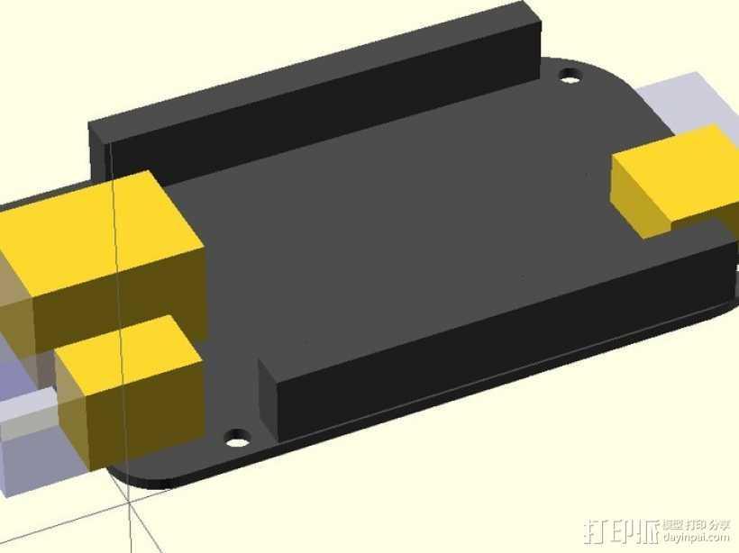 黑色模型 3D打印模型渲染图