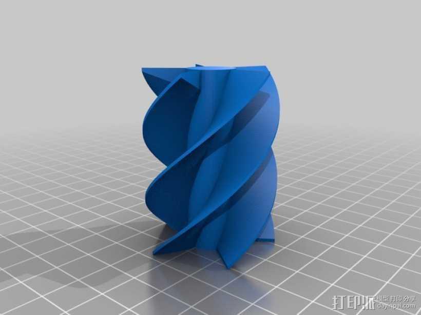 螺旋钻 3D打印模型渲染图
