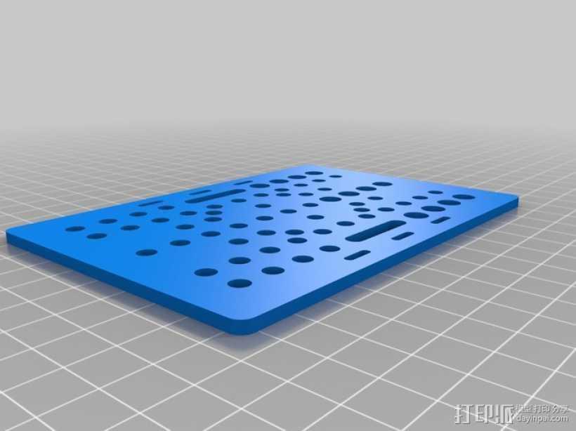 V-slot万能板 3D打印模型渲染图