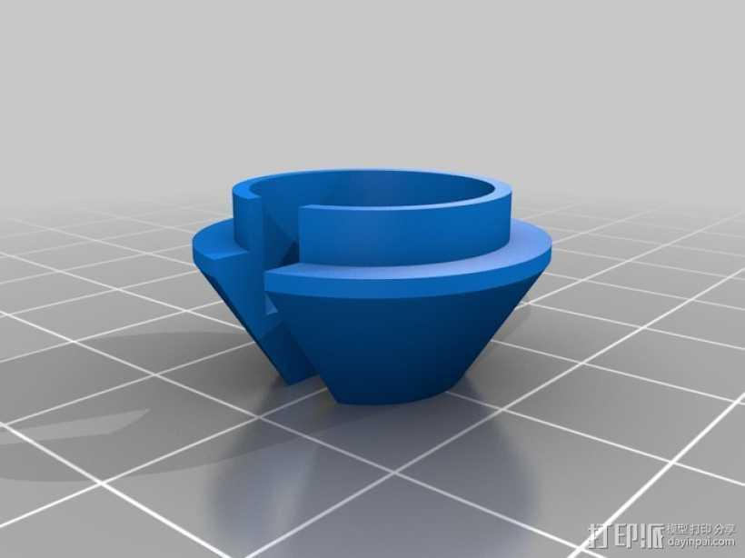 弹簧座接口 3D打印模型渲染图