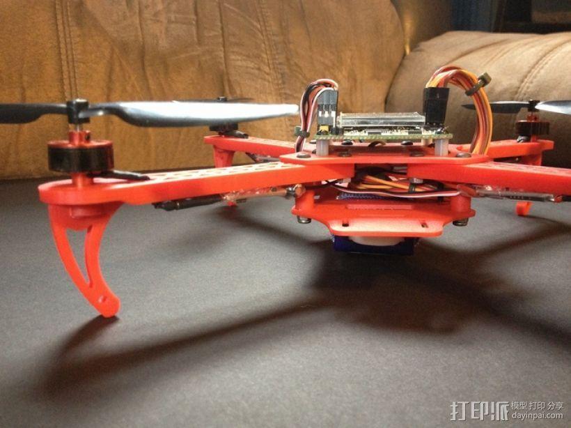 迷你起落架 3D打印模型渲染图