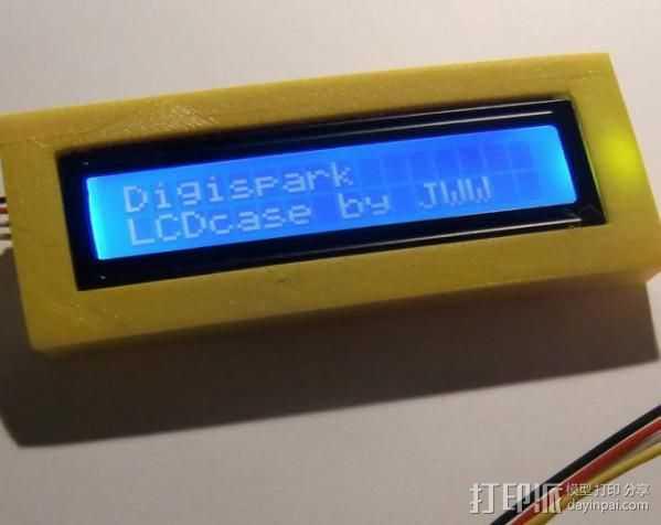 串行LCD 3D打印模型渲染图