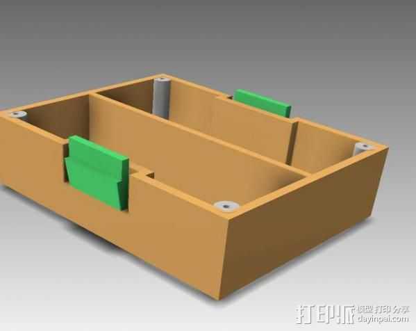 空白频射模块 3D打印模型渲染图