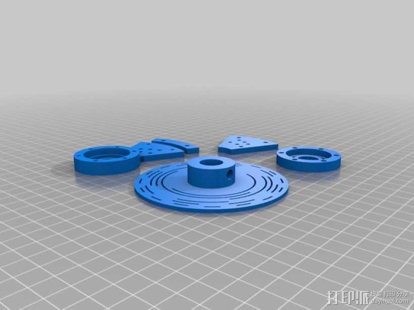 格雷编码器 3D打印模型渲染图