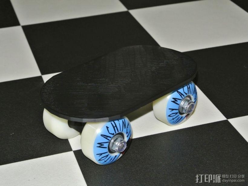 小型滑板 3D打印模型渲染图