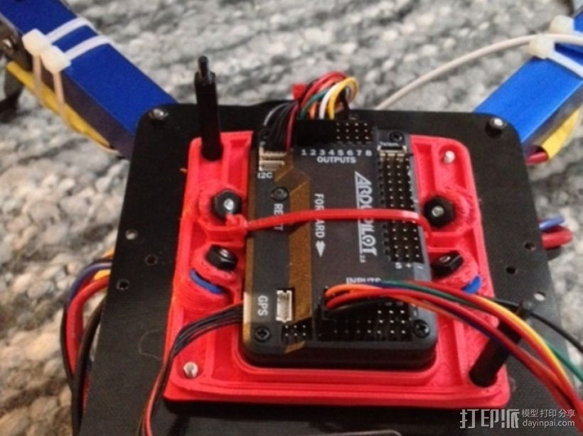 减震安装板 3D打印模型渲染图