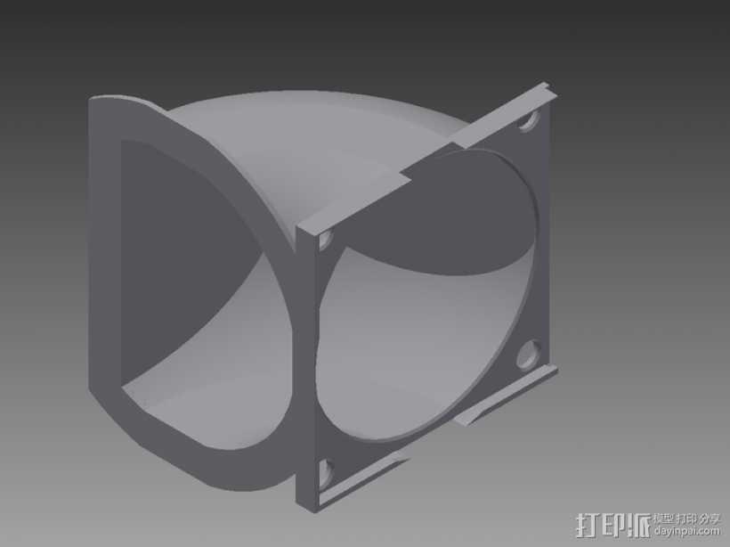 冷风导管 3D打印模型渲染图
