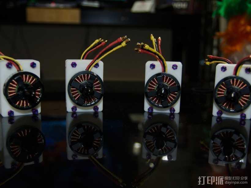 电动发动机 3D打印模型渲染图