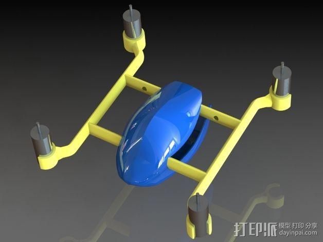 口袋大小的Qwad 3D打印模型渲染图